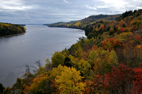 Penobscot River Estuary Fall Foliage