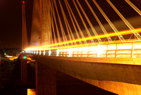 Penobscot Narrows Bridge Night Traffic