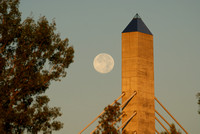Blue Moon Setting - Verona Island Tower
