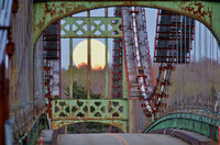 "Historic Waldo-Hancock Bridge with ""Supermoon"" Rising"