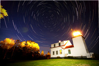 Startrails at Fort Point Lighthouse*